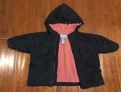 Childrens Place Navy Blue Windbreaker Jacket Hood Baby Boy 6 9 months EUC