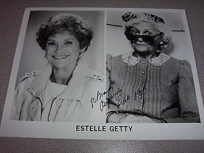 Estelle Getty 8X10 Autographed Photo  Golden Girls