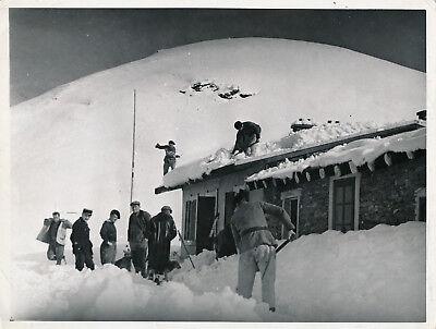 Chasseurs Alpins c. 1935 - Déneigement Poste du Fréjus - NV 54