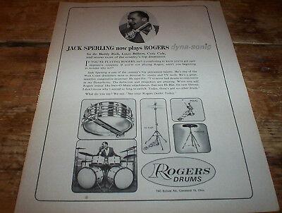 ROGERS DRUMS ( DYNA SONIC ) 1964 JACK SPERLING Vintage US Jazz magazine PROMO Ad ()