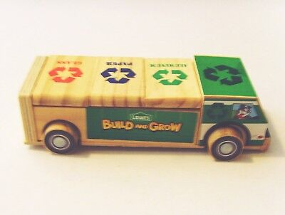 Wood Recycling Truck Lowes Hardware Store Wooden Trash Vehicle With Opening Bins