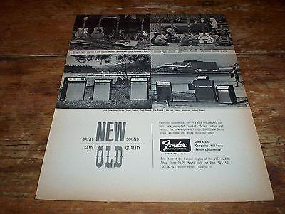 FENDER electric GUITARS ( VARIOUS MODELS ) 1967 U.S. Vintage Magazine Ad NM