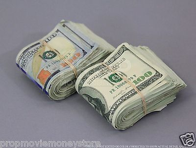 PROP MONEY AGED MIXED FULL PRINT FAT FOLDS $20,000 for Movie, Video