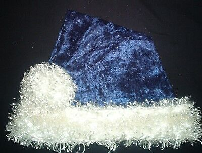 Blue And White Santa Hats (24