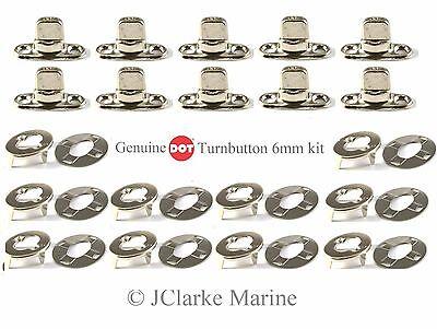 DOT Turnbutton Common Sense fastener kit eyelets bases boat canopy cover bimini