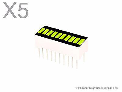5 Pcs Yellow Green Led 10-segment Bargraph Array Display New Bright Bar Graph