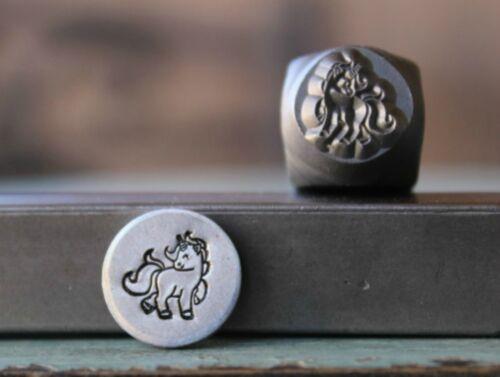 SUPPLY GUY 8mm Unicorn Metal Punch Design Stamp SGCH-225