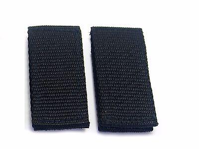 2 Police Security Guard Black Nylon Duty Belt Keepers Hook Loop Fit Belts 2