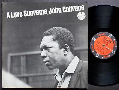 JOHN COLTRANE A Love Supreme LP IMPULSE! AS-77 RVG ST McCoy Tyner Elvin Jones