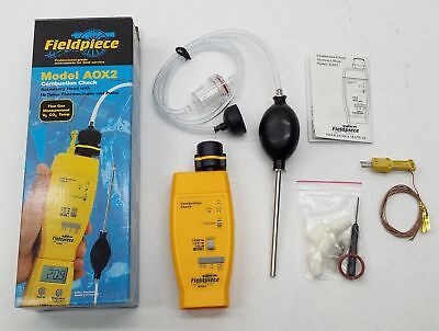 New Fieldpiece Aox2 Combustion Check Accessory Head Meter W Thermocouple Pump