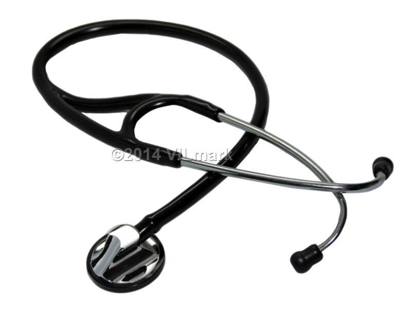 Professional Cardiology Stethoscope Black, 14a Life Limited Warranty
