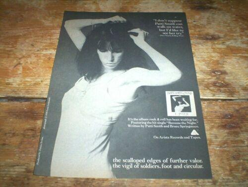 PATTI SMITH ( EASTER ) 1978 Vintage ARISTA Records magazine PROMO Ad NM-