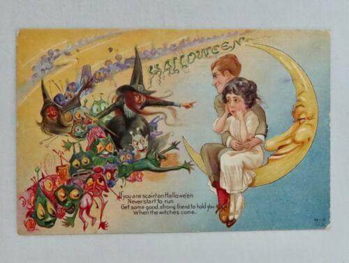 Vintage Nash H-12 Halloween Postcard - 80939
