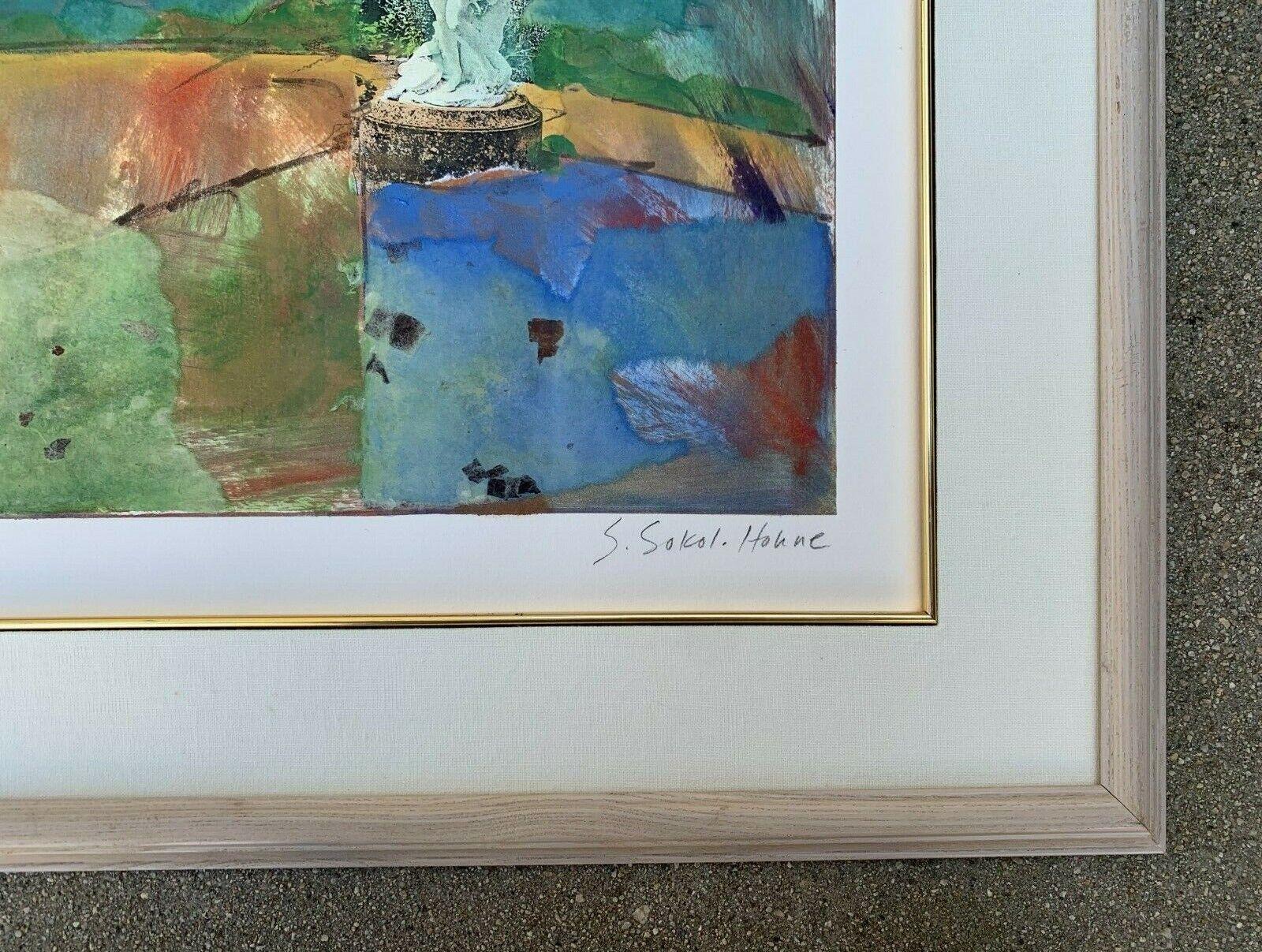 STARLIE SOKOL- HOHNE b.1958- ORIGINAL MIXED MEDIA ABSTRACT ART WORK ON PAPER - $350.00