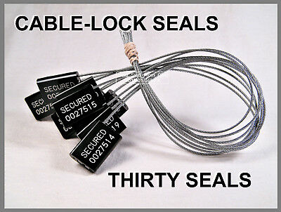 Cable-lock Security Seals Cargo Tanker Black All-metal Thirty Seals
