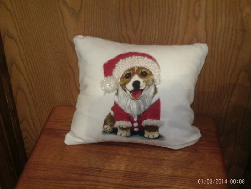 CUTE HANDCRAFTED CHRISTMAS CORGI PILLOWPEMBROKE WELSH CORGI IN SANTA SUIT