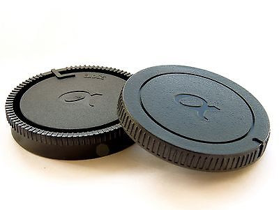 Camera Body & Rear Lens Cap for Sony DSLR A Mount Lenses ALPHA α logo UK SELLER