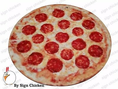 PIZZA SIGN, RESTAURANT SIGNAGE, ADVERTISING, PIZZERIA, DECOR, MAN CAVE, food - Pizzeria Decor