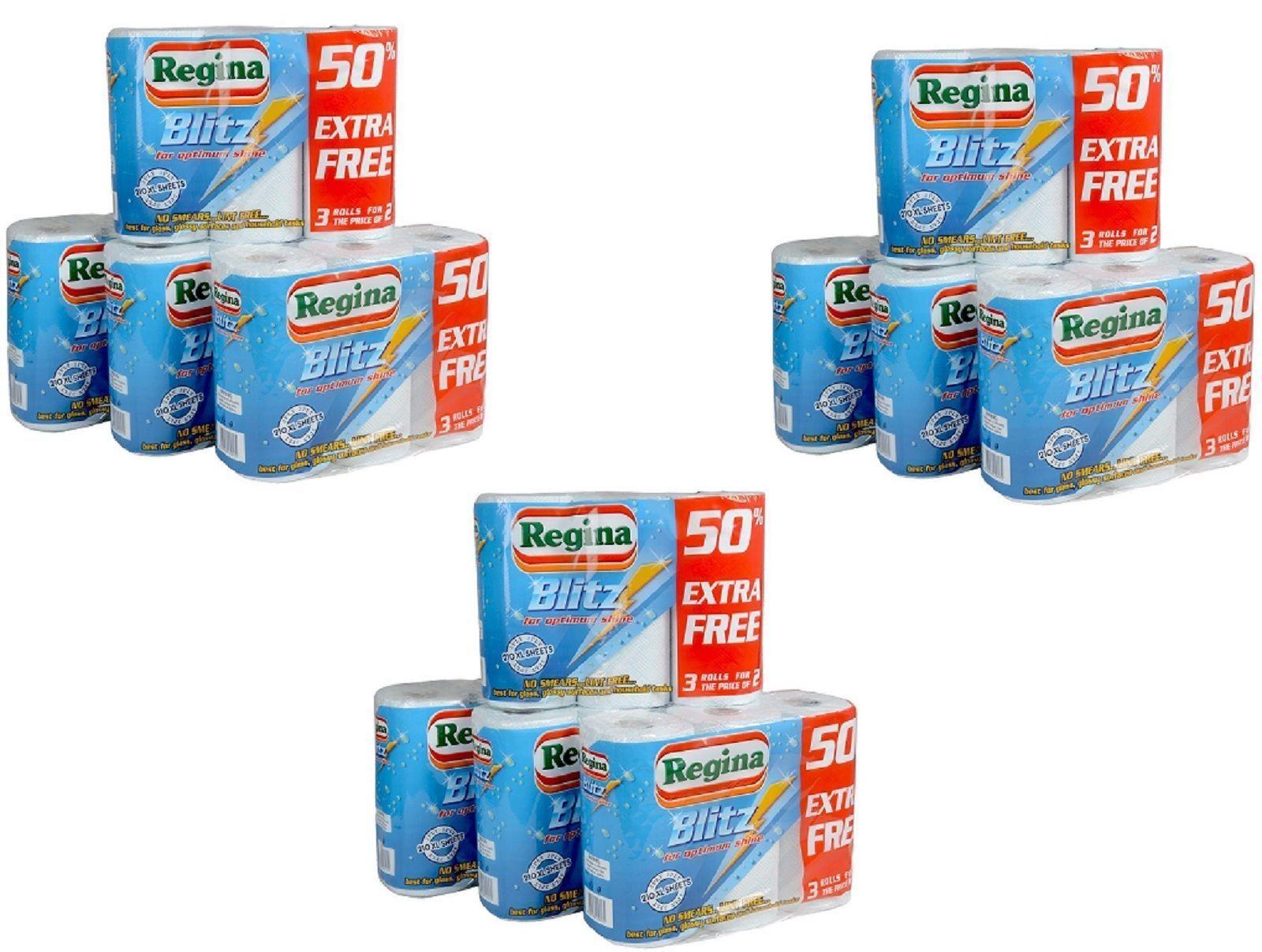48 Regina Blitz 3 Ply Kitchen Towel Paper Rolls CHEAPEST BULK Buy | eBay