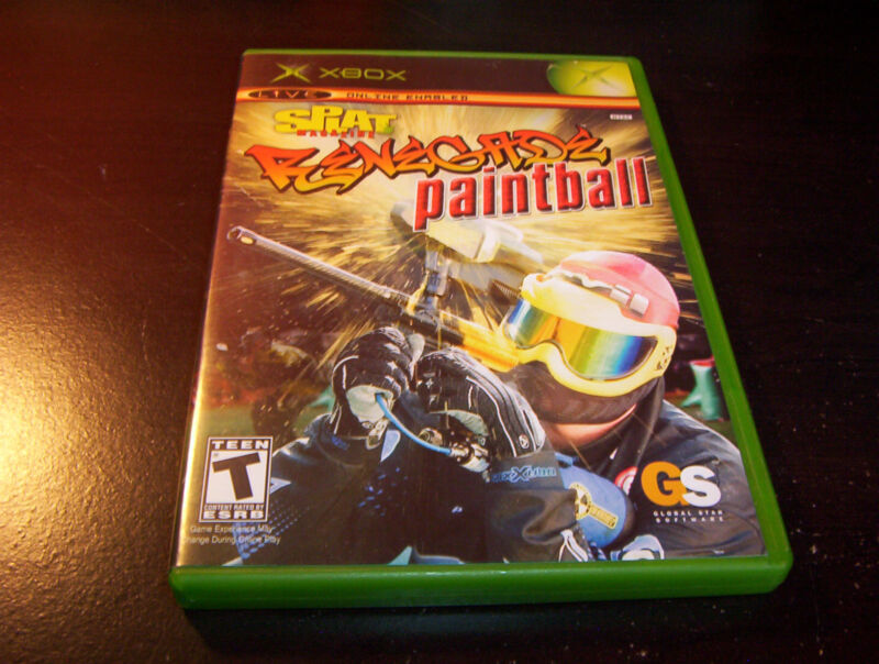 SPLAT MAGAZINERENEGADE PAINTBALL BLACK LABEL MICROSOFT XBOX VIDEO GAME COMPLETE