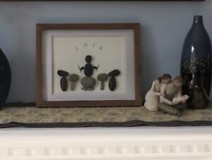 For the drummer in your life- Hand made pebble art