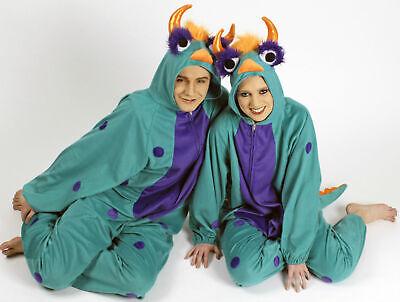 Kostüm Plüschoverall süßes Monster Kinder u Erwachsene Karneval - Grünen Anzug Kostüme
