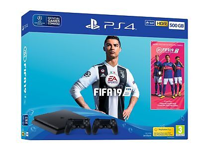 Fifa 19 500gb Ps4 Bundle - With Second Dualshock 4, Fifa 19 Ultimate Team Icons & Rare Player Pack (Ps4)