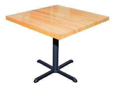 RESTAURANT SOLID WOOD BUTCHER-BLOCK TABLE TOP 1.75' THICK 36X36 NATURAL MAHAGONY - Natural Solid Wood Butcher Block