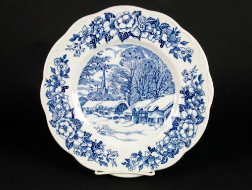 "J&G Meakin Stratford on Avon Blue Transferware Plate, Vintage 1972 England 10"""