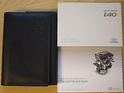 HYUNDAI I40 OWNERS MANUAL HANDBOOK WALLET AUDIO AND SERVICE BOOK 2011-2016 PACK