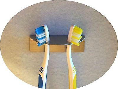 Zahnbürstenhalter R aus Edelstahl für 2 Zahnbürsten Aufsteckbürsten oral b