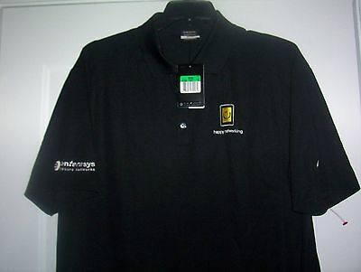 16d916180f884b NIKE GOLF SHIRT Corporate Golf Logo Dri-Fit XL Golfing Golfer Sport Shirt  NEW
