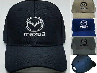 Mazda Embroidered Baseball Hat Cap Adjustable Strap Cx 3   Mx 5 Miata   Mazda 3