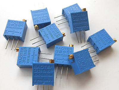 20 pcs 3296 Variable Resistors RoHS 101 102 103 104 201 202 203 501 502 503