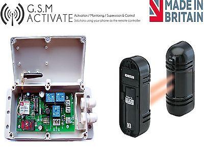 GSM AUTO DIALER WITH 100 METRE SENSOR BEAM - OUTDOOR ALARM  ()