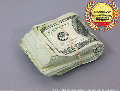 THE BEST PROP MONEY USED LOOK FAT FOLD $10,000 Blank Filler for Movie, TV
