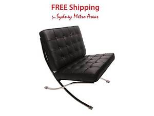 Clearance Sale Barcelona Lounge Chair Italian Leather Other