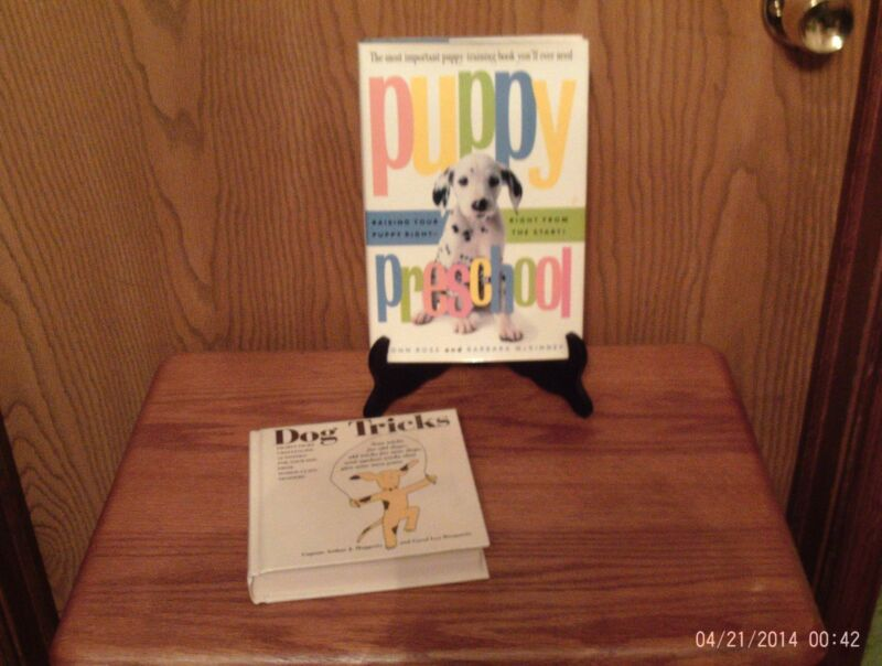 2 DOG BOOKS DOG TRICKS  AND PUPPY PRE-SCHOOL