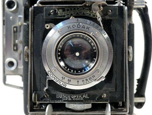 2 1/4 x 3 1/4 Busch Pressman Field Camera Outfit w/Kodak Compur F=10.5 cm Lens