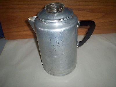 Vintage Glass Knob Aluminum Percolator Coffee Pot : Stove or Camping Style Retro