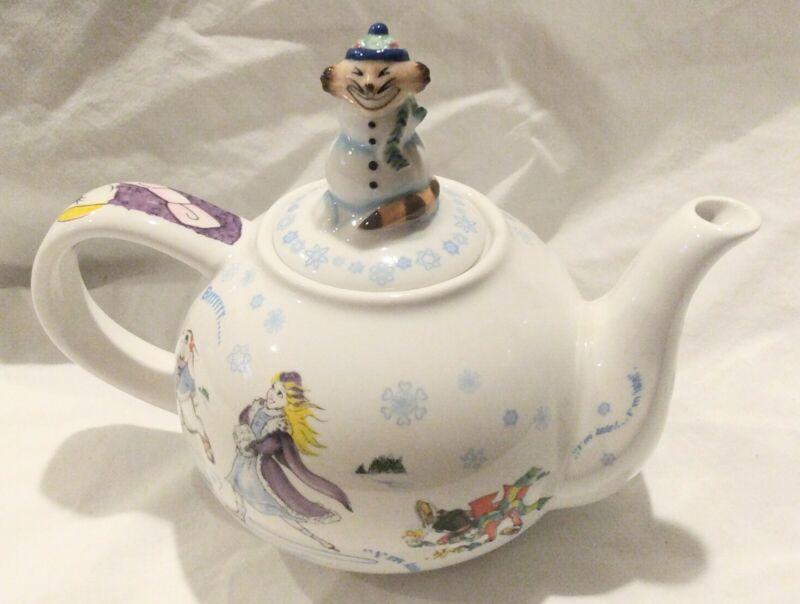 Alice In Winterland Wonderland Cafe by Paul Cardew Teapot Designed in England