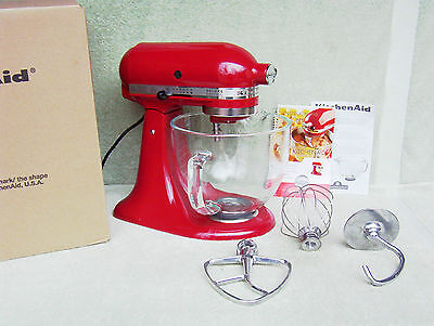 NIB KITCHENAID DELUXE EDITION 5-QT 10-SPEED TILT-HEAD STAND MIXER ~RED~SAVE $152