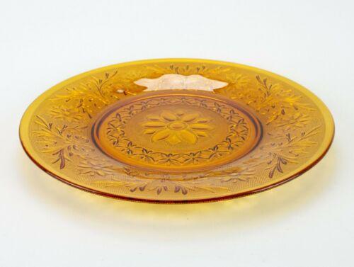 "Anchor Hocking Sandwich Desert Gold Sandwich Plate, Vintage Amber Tray 12"""