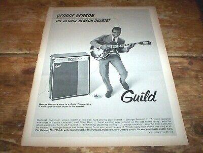 GEORGE BENSON ( GUILD GUITARS ) 1968 Vintage U.S. JAZZ magazine PROMO Ad NM-