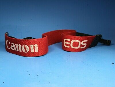 Canon EOS SLR Camera Shoulder Neck Strap - Red w/ White Lettering