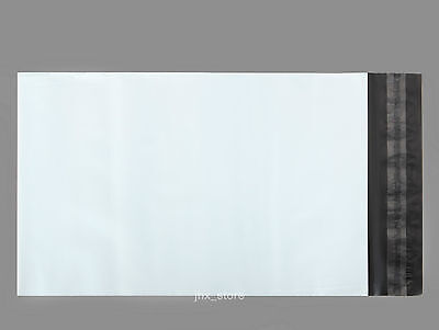 25 Poly Envelopes Mailers Pouches White Mailing Bags 7.5