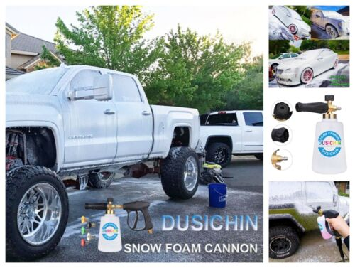 DUS 118 Foam Cannon Lance Pressure Washer Nozzle Tip Snow Soap Spray Gun 67Oz