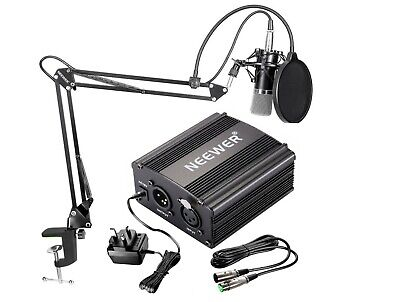 Neewer Condenser Microphone Kit, Mic Arm Stand and Pop Filter, Studio