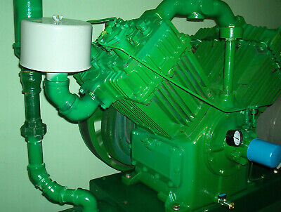 Quincy 25hp Model 5120 Air Compressor On 250 Gallon Tank With Extra 25hp Motor