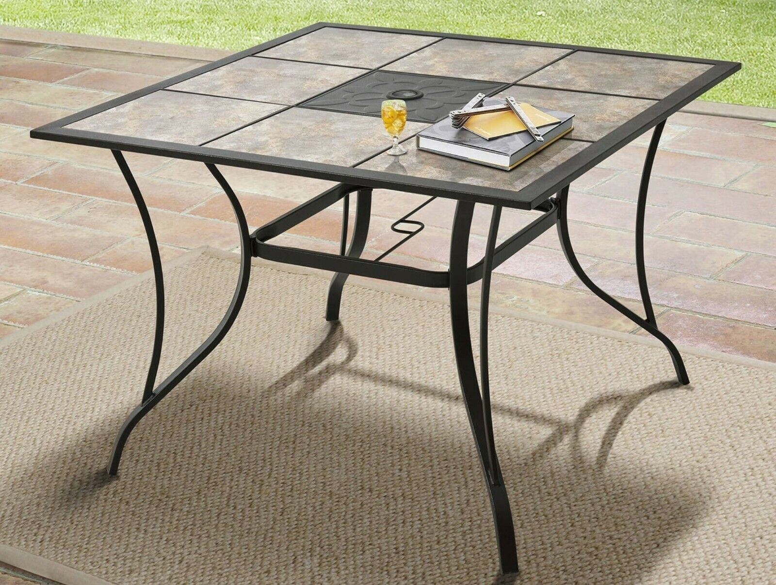 Steel Bistro Table Outdoor Patio Dining